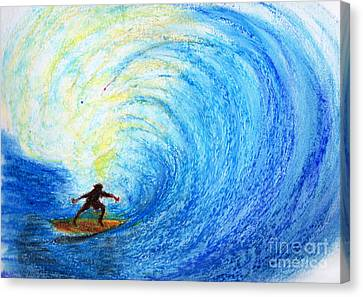 Surf Canvas Print by Serene Maisey