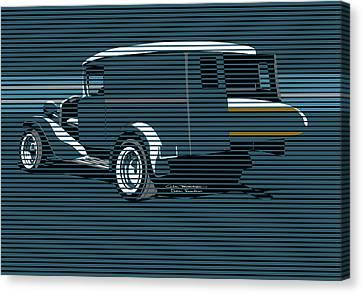 Surf Truck Ocean Blue Canvas Print by MOTORVATE STUDIO Colin Tresadern