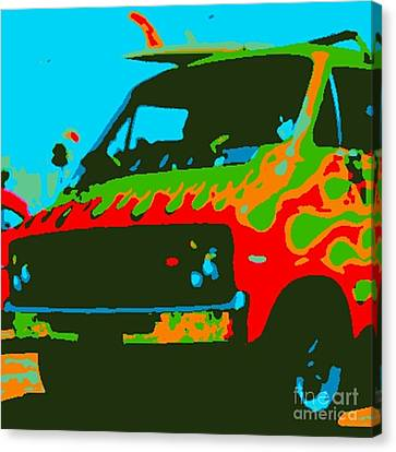 Surf Wagon Canvas Print by James Eye