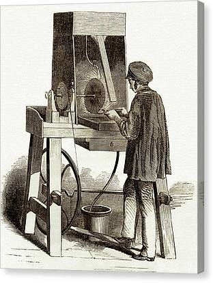 Surface Finishing Machine Canvas Print by Sheila Terry
