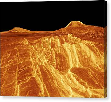 Surface Of Venus Canvas Print by Nasa/jpl
