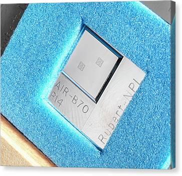 Surface Texture Calibration Box Canvas Print