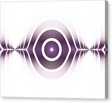 Surface Waves - Purple Canvas Print