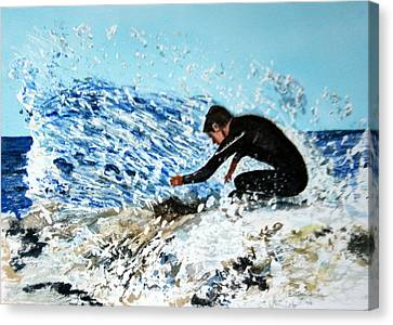 Surfer Canvas Print by Betty-Anne McDonald