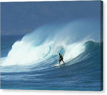 Surfer Catches A Good Ride Canvas Print