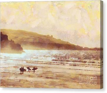 Surfer Dawn Canvas Print