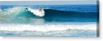 Surfer Dsc_1330 Canvas Print by Michael Peychich