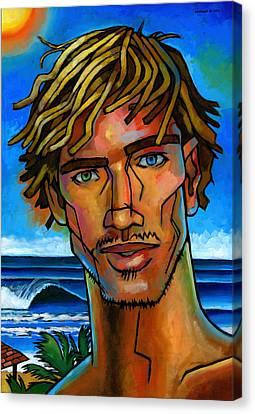 Surfer Dude Canvas Print by Douglas Simonson