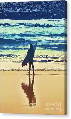 Surfer Girl Canvas Print by Andrea Auletta