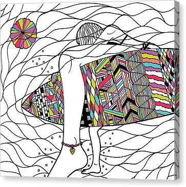 Surfer Girl Canvas Print by Susan Claire