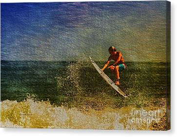 Surfer In Oil Canvas Print