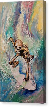 Surrealist Canvas Print - Surfer by Michael Creese
