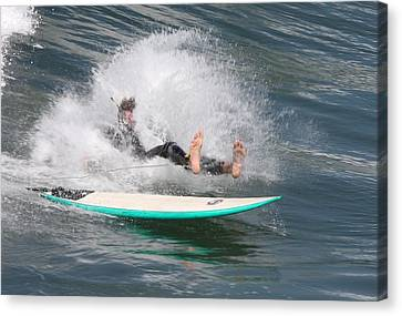 Surfer Wipeout Canvas Print