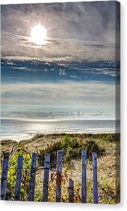 Surfers At Coast Guard Beach Canvas Print by Brian Caldwell