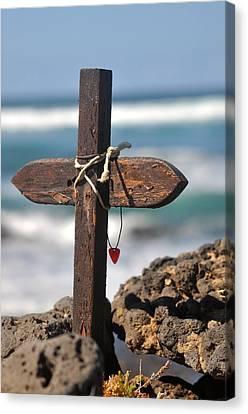 Good Luck Canvas Print - Surfers Cross  by Keith Harkin