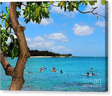 Surfers In Paradise Canvas Print by Kristine Merc