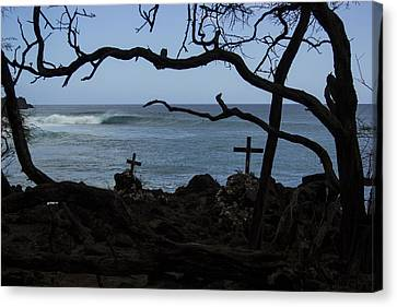 Surfers Resting Grounds Canvas Print by Brad Scott