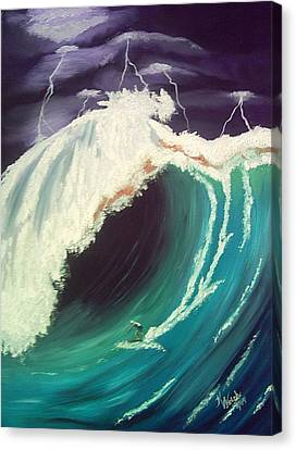 Surfing Dare Devil  Canvas Print