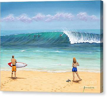 Surfing Hawaii Canvas Print