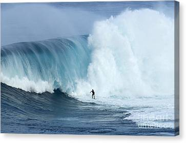 Surfing Jaws 4 Canvas Print by Bob Christopher