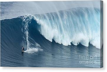 Surfing Jaws 5 Canvas Print by Bob Christopher
