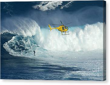 Surfing Jaws 6 Canvas Print by Bob Christopher