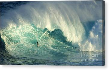 Surfing Jaws Hang Loose Brother Canvas Print by Bob Christopher