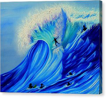 Surfing Party Canvas Print