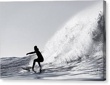 Canvas Print featuring the photograph Surfing The Avalanche by Paul Topp