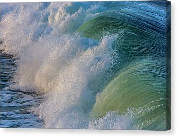 Surfs Up At Pismo Beach, California, Usa Canvas Print by Chuck Haney