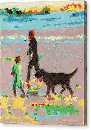 Beach Art Surf's Up - Beach Painting Bertram Poole Canvas Print