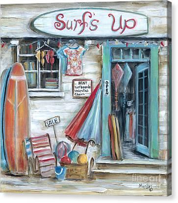 Bikini Canvas Print - Surfs Up Beach Shop by Marilyn Dunlap