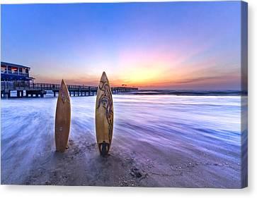 Surf's Up Canvas Print by Debra and Dave Vanderlaan