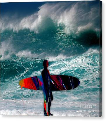 Surfs Up Canvas Print by Marvin Blaine