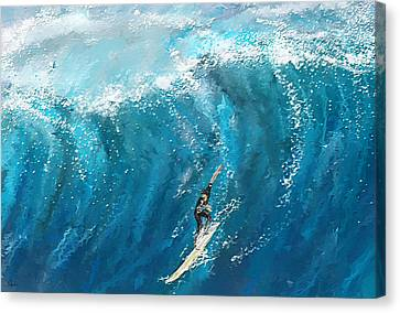 Surfing Art Canvas Print - Surf's Up- Surfing Art by Lourry Legarde
