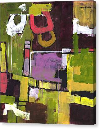 Abstract Forms Canvas Print - Surprise Garden by Douglas Simonson