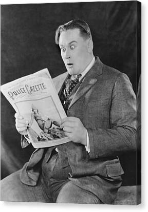 Surprise In The Police Gazette Canvas Print by Underwood Archives