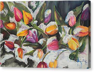 Surprise Spring Snow Canvas Print