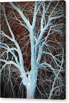 Bare Trees Canvas Print - Surreal Blue Tree by Chalet Roome-Rigdon