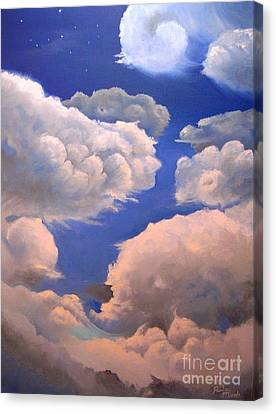 Surreal Cloud One Canvas Print by Paula Marsh
