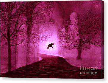 Surreal Fantasy Gothic Raven Crow Nature Canvas Print by Kathy Fornal