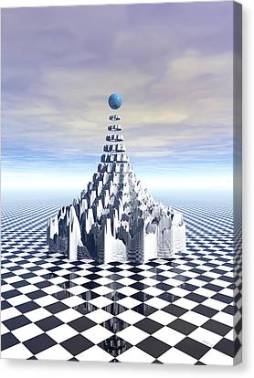 Surreal Fractal Tower Canvas Print by Phil Perkins
