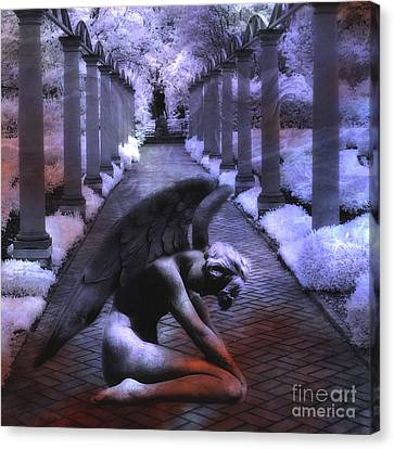 Fantasy Angel Art Canvas Print - Surreal Infrared Fantasy Angel Art Landscape by Kathy Fornal