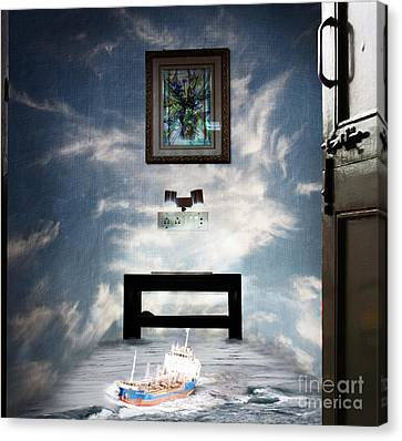 Surreal Living Room Canvas Print by Laxmikant Chaware