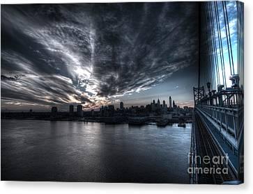 Surreal Philadelphia Skyline Canvas Print