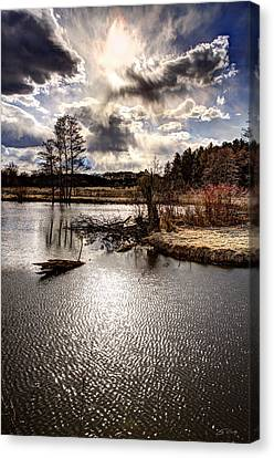 Surreal Sky At Sunfish Pond Canvas Print