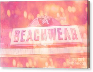 Surreal Summer Beachwear Sign - Mrytle Beach South Carolina Canvas Print by Kathy Fornal