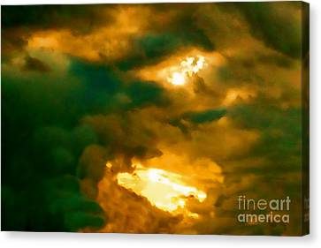 Surreal Sunset Canvas Print by Anita Lewis