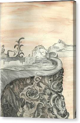 Surreal View Canvas Print by Angela Pelfrey