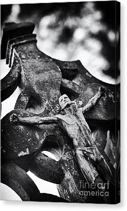 Religious Jesus On Cross Canvas Print - Surrender by Tim Gainey